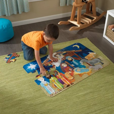 Kids Christmas Nativity Floor Puzzle