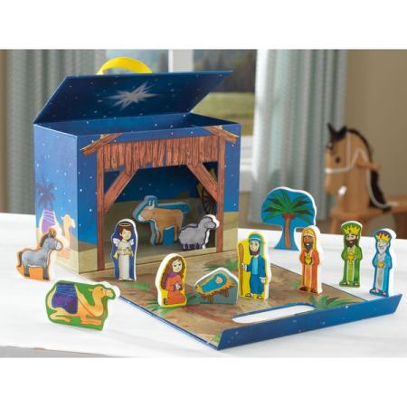 Kid Nativity Travel Box Play Set