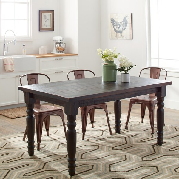 grain wood furniture valerie 63 inch solid wood dining on solid wood dining table id=59717