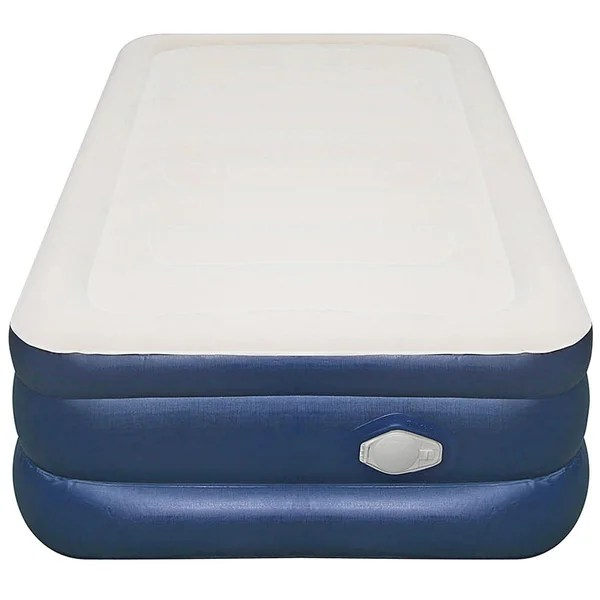 Airtek Twin Size Flocked Top Air Mattress With Memory Foam Topper Free Shipping Today 17397675