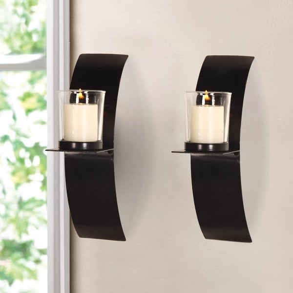 Shop Vertical Wall Hanging Minimalist Modern Style Candle ... on Wall Mounted Candle Sconce id=33072