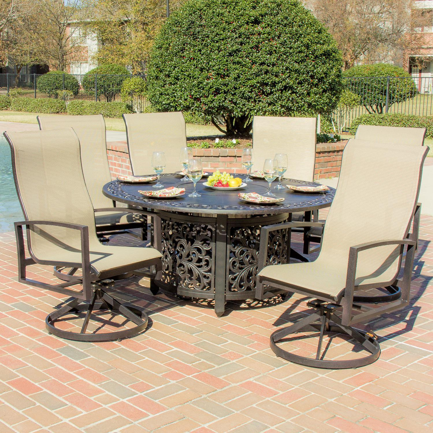 View Patio Set With Fire Pit PNG
