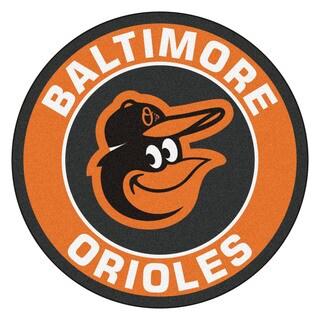 Shop Fanmats MLB Baltimore Orioles Orange Nylon Roundel Mat 23 X 23 Free Shipping On