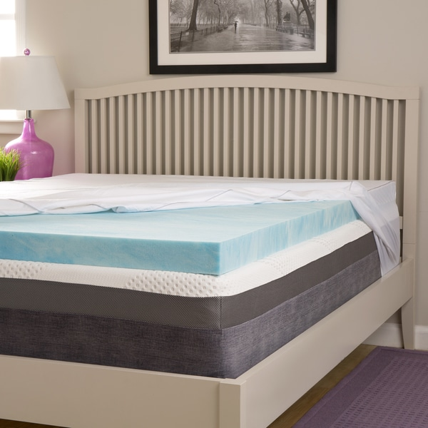 comforpedic loft from beautyrest choose your comfort 2 inch gel memory foam mattress topper with