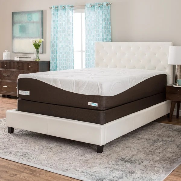 Comforpedic From Beautyrest 14 Inch King Size Gel Memory Foam Mattress Set Free Shipping Today 17473962