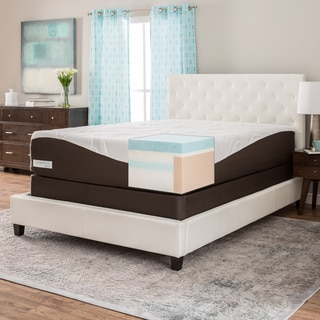 Comforpedic From Beautyrest 14 Inch King Size Gel Memory Foam Mattress Set