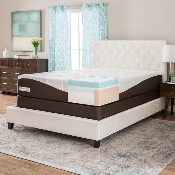 Comforpedic From Beautyrest 12 Inch King Size Gel Memory Foam Mattress Set