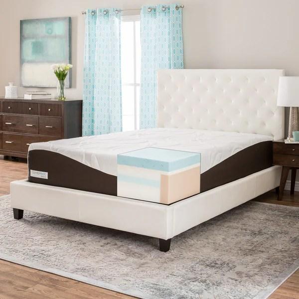 Comforpedic From Beautyrest 14 Inch Queen Size Gel Memory Foam Mattress
