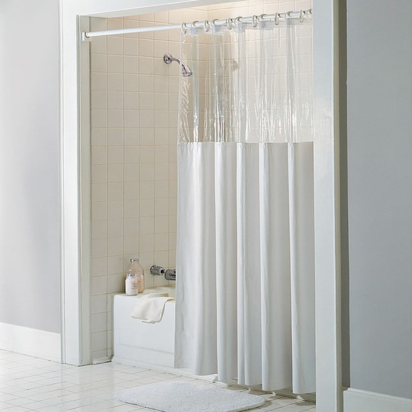 Shop Antibacterial And Antimicrobial Mildew Resistant See Through Top Clear White Vinyl