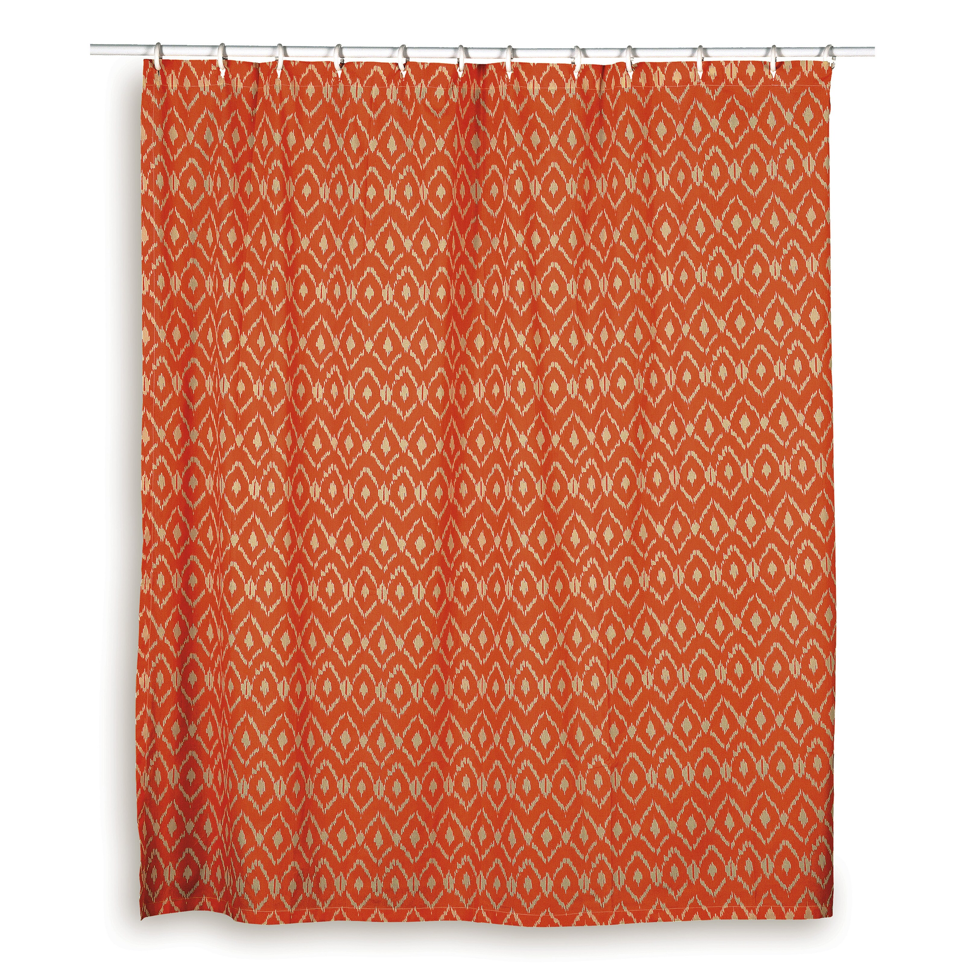 Rizzy Home Ikat Shower Curtainsm Blue Red Orange