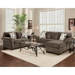 Shop Fabric Sectional Sofa And Loveseat Set With Pillows Elizabeth Ash Overstock 10438193