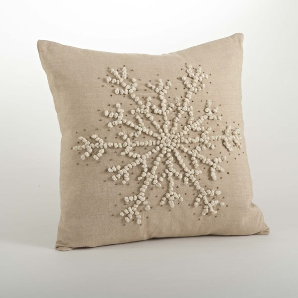 Shop Hand Knotted Snowflake Throw Pillows On Sale Free