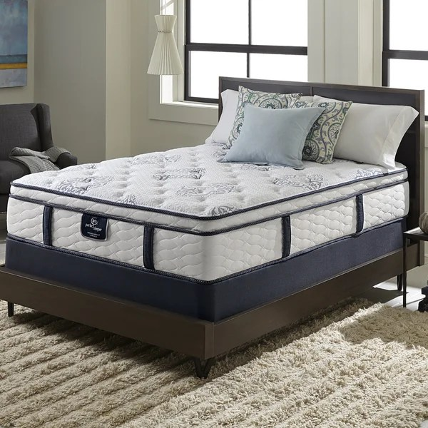 Serta Perfect Sleeper Elite Infuse Euro Top Queen Size Mattress And Box Spring Set