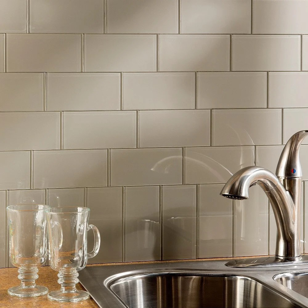 aspect 3x6 inch putty decorative wall tile 8 pack