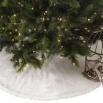 Noel Blanc Faux Fur Design White Holiday Christmas Tree Skirt Overstock 10517763