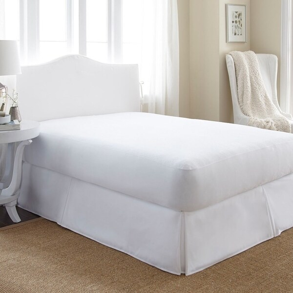 Soft Essentials Waterproof Terry Cotton Top Mattress Protector White