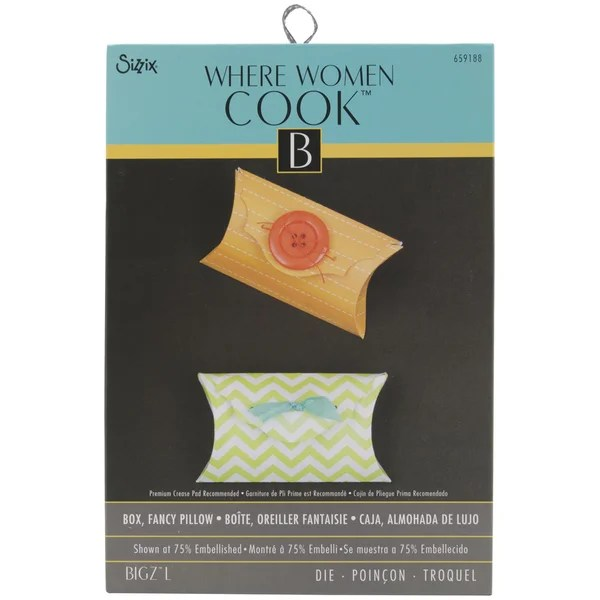 sizzix bigz large die by where women cook 6inx8 75infancy pillow box