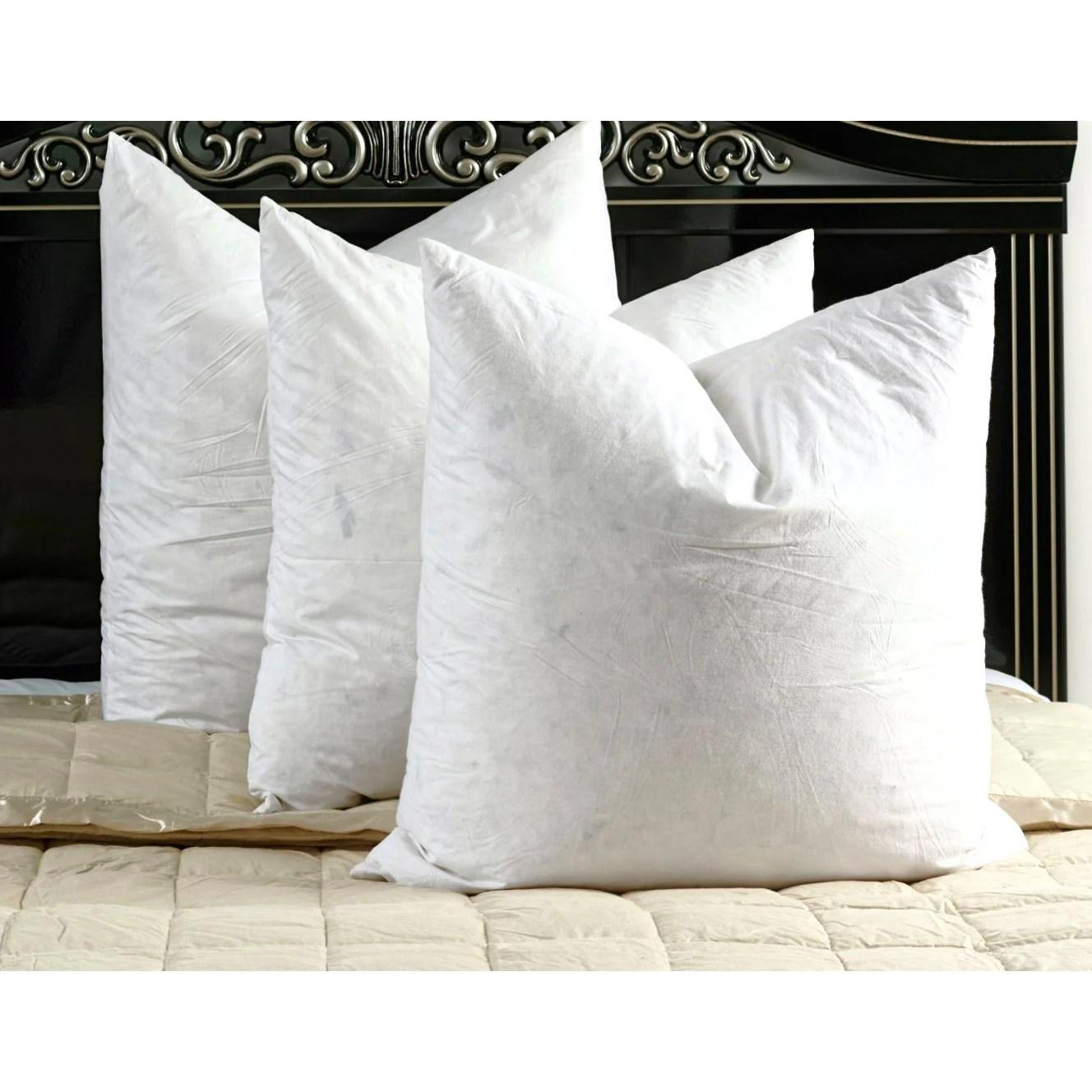28x28 feather pillow insert online
