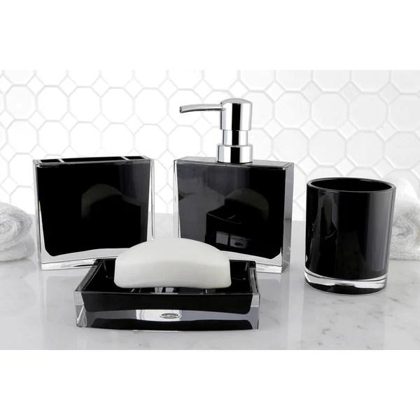 Modern Black 4-piece Bath Accessory Set - On Sale ...