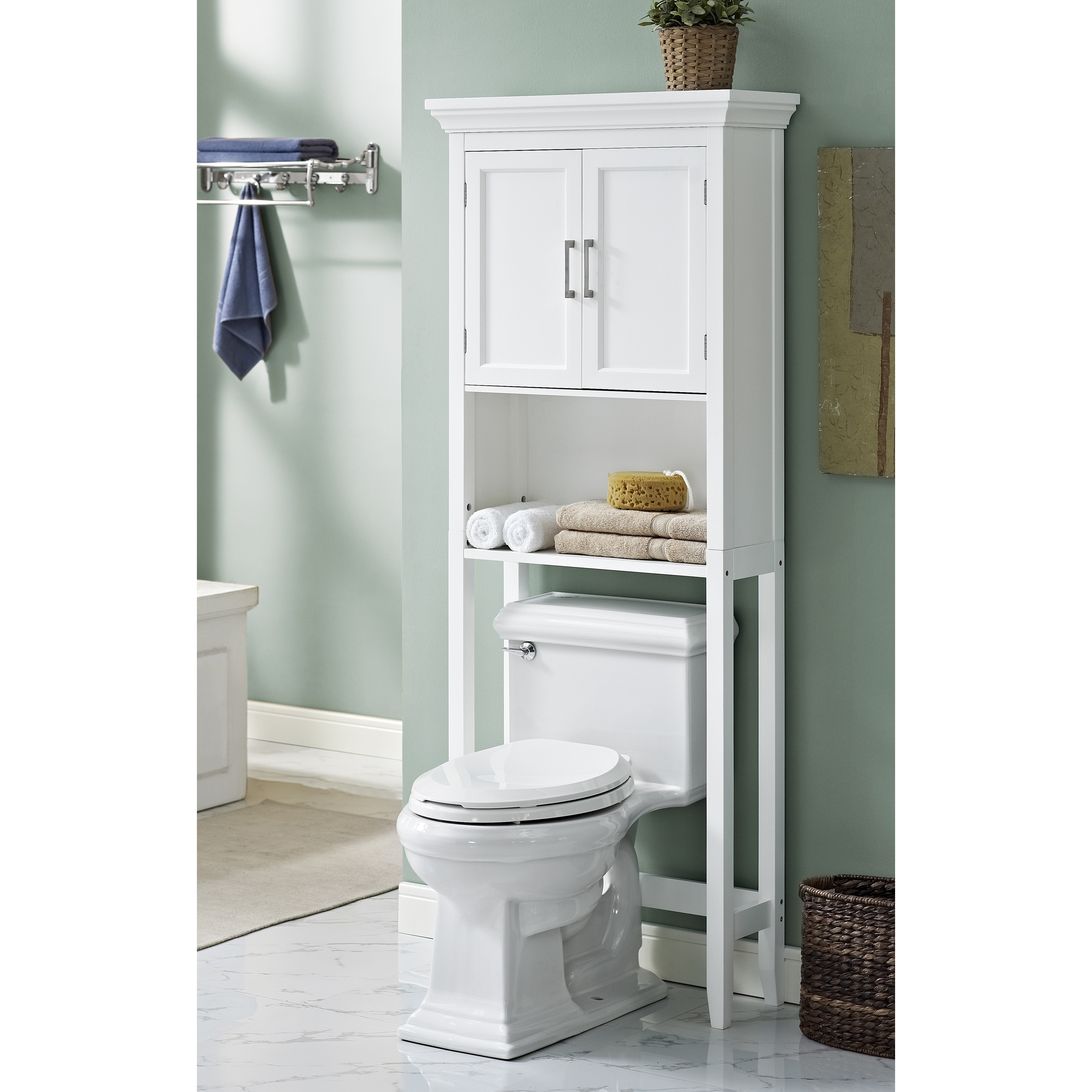 Wyndenhall Hayes White Bathroom Space Saver Cabinet Cac Jpg 3100x3100  Outhouse Space Saver Bathroom