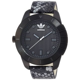 Adidas Mens ADH3027 Manchester Black Leather Watch
