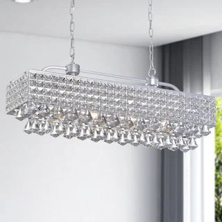Jolie Silver 5 Light Rectangular Crystal Chandelier Free Shipping Today 17762678
