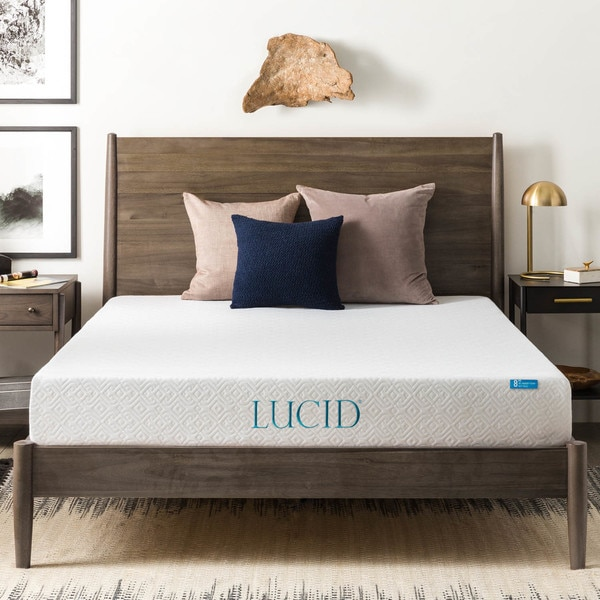Lucid 8 Inch Twin Xl Size Gel Memory Foam Mattress