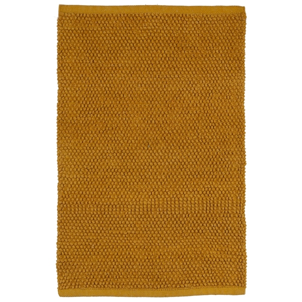 plush nubby gold bath rug (21 x 34) - free shipping on orders over