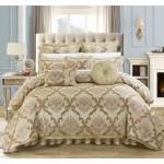 Chic Home Antonio 13 Piece Jacquard Scroll Beige Comforter Set On Sale Overstock 10838348