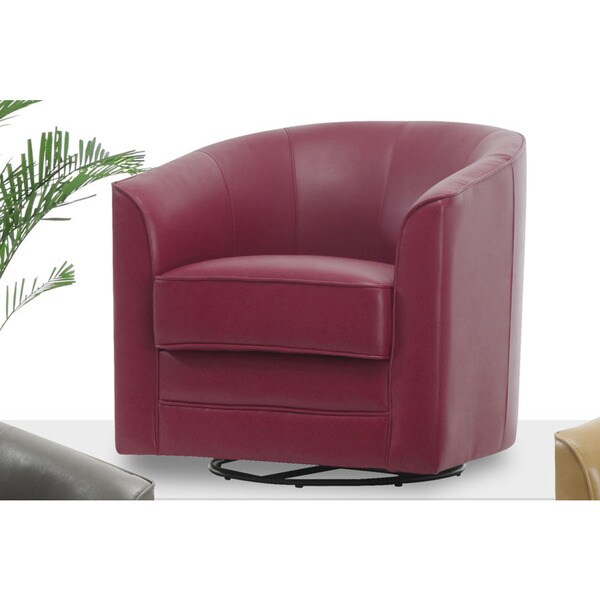 Leather Swivel Accent Chair