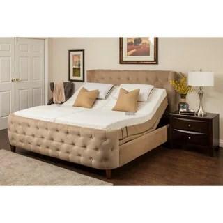 Sleep Zone Malibu 12 Inch Split California King Size Memory Foam And Latex Adjule