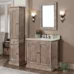 Rustic Style Quartz White Marble Top 36 Inch Bathroom Vanity With Matching Wall Mirror And Linen Tower Overstock 10988122