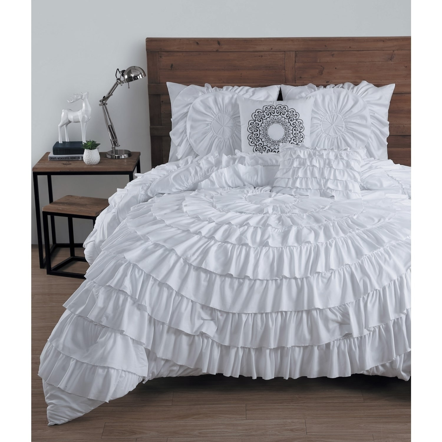 Shop Avondale Manor Saruffled 5 Piece Comforter Set