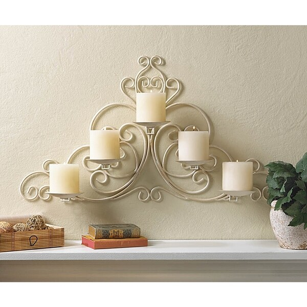 Shop Victorian Scrollwork Candle Wall Sconce - Free ... on Victorian Wall Sconces id=88804