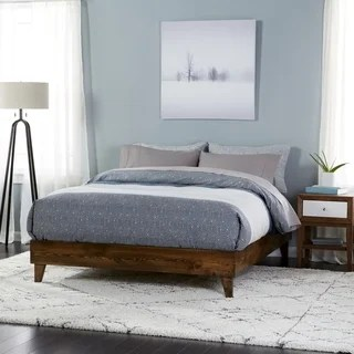 Buy King Beds Online at Overstock com   Our Best Bedroom Furniture Deals Wood Mid century Platform Style Bed