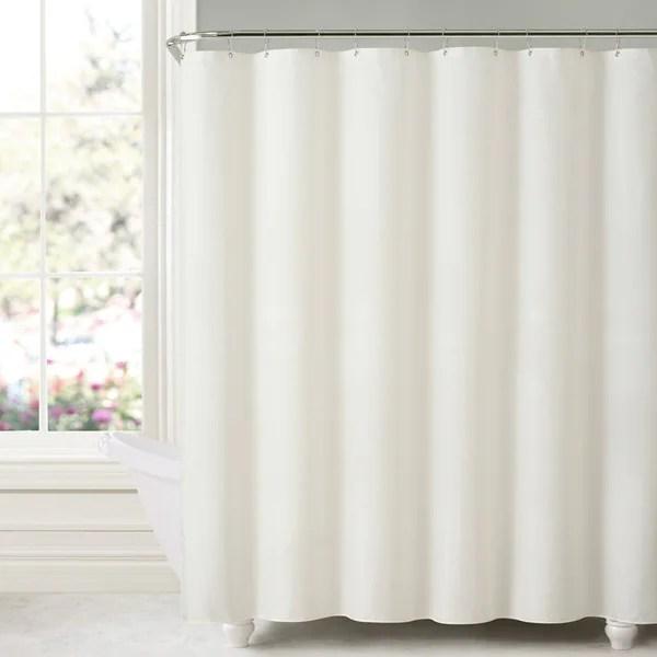 shower curtain liners home kitchen deluxe mildew free waterproof vinyl shower curtain liner navy bella kline design