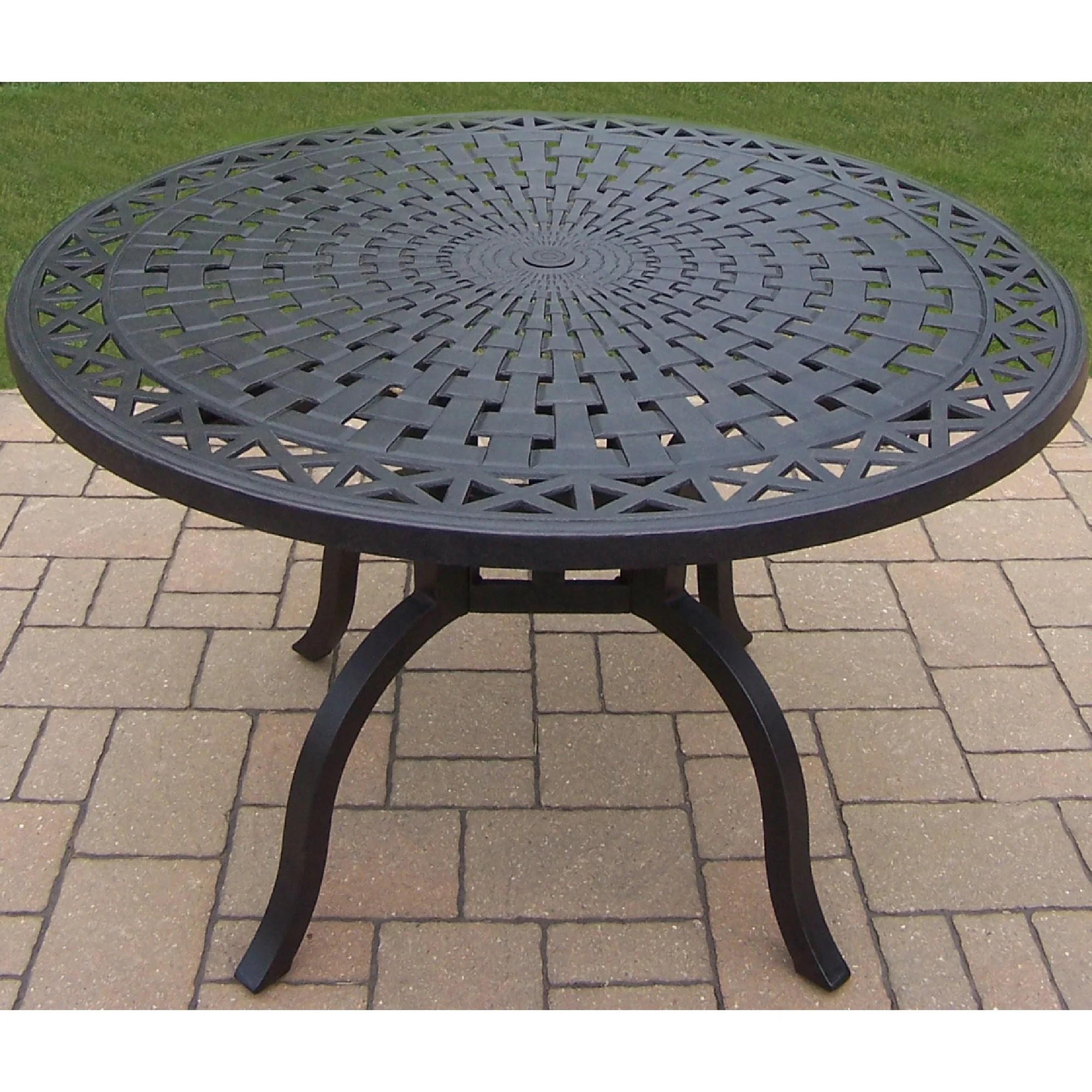buckingham cast aluminum 48 inch round dining table