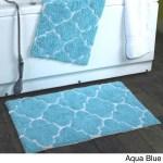 2 Piece Moroccan Trellis 100 Percent Cotton Bath Rug Set 21 X 34 Overstock 11177267