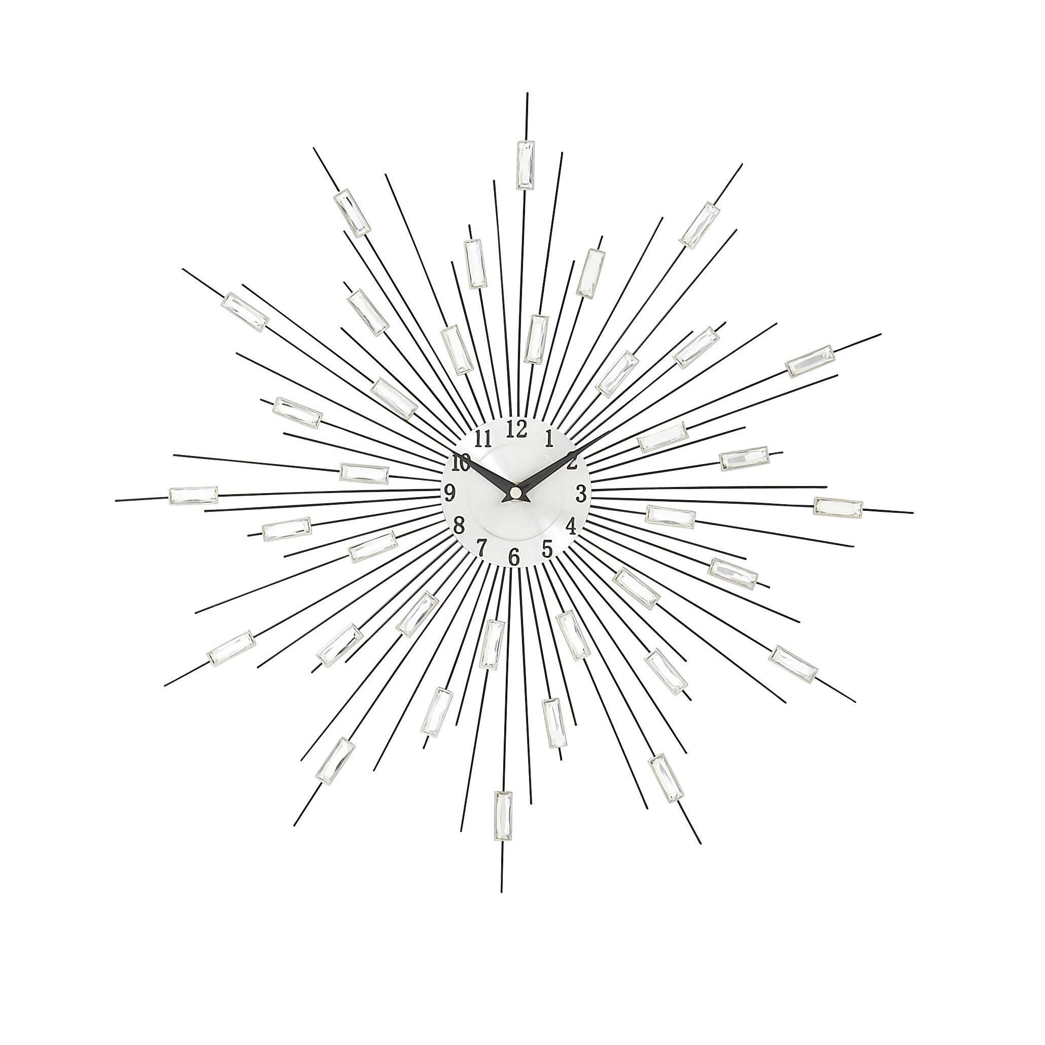 Shop Silver Metal Acrylic Starburst Wall Clock