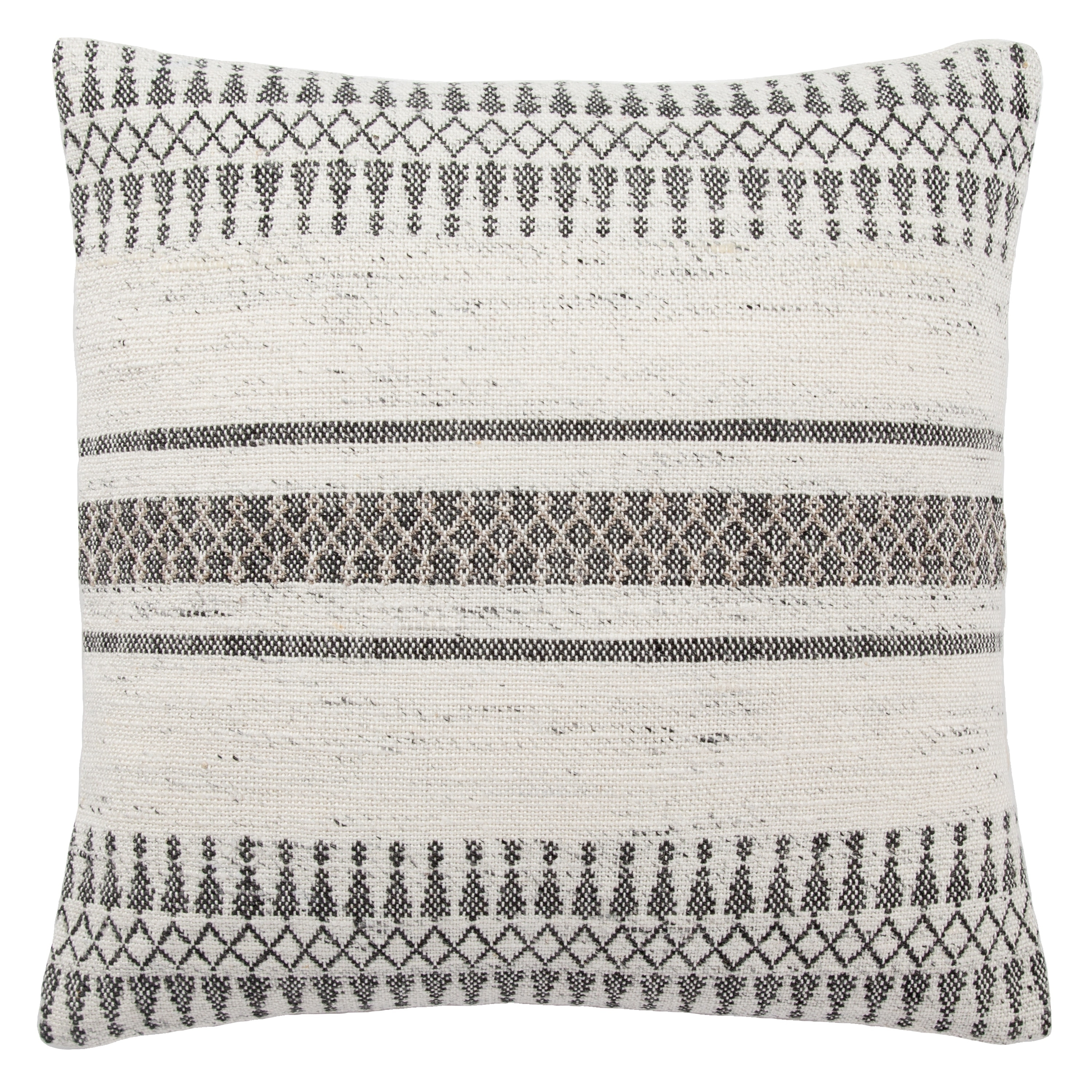 tribal pattern ivory gray throw pillow 20 inch