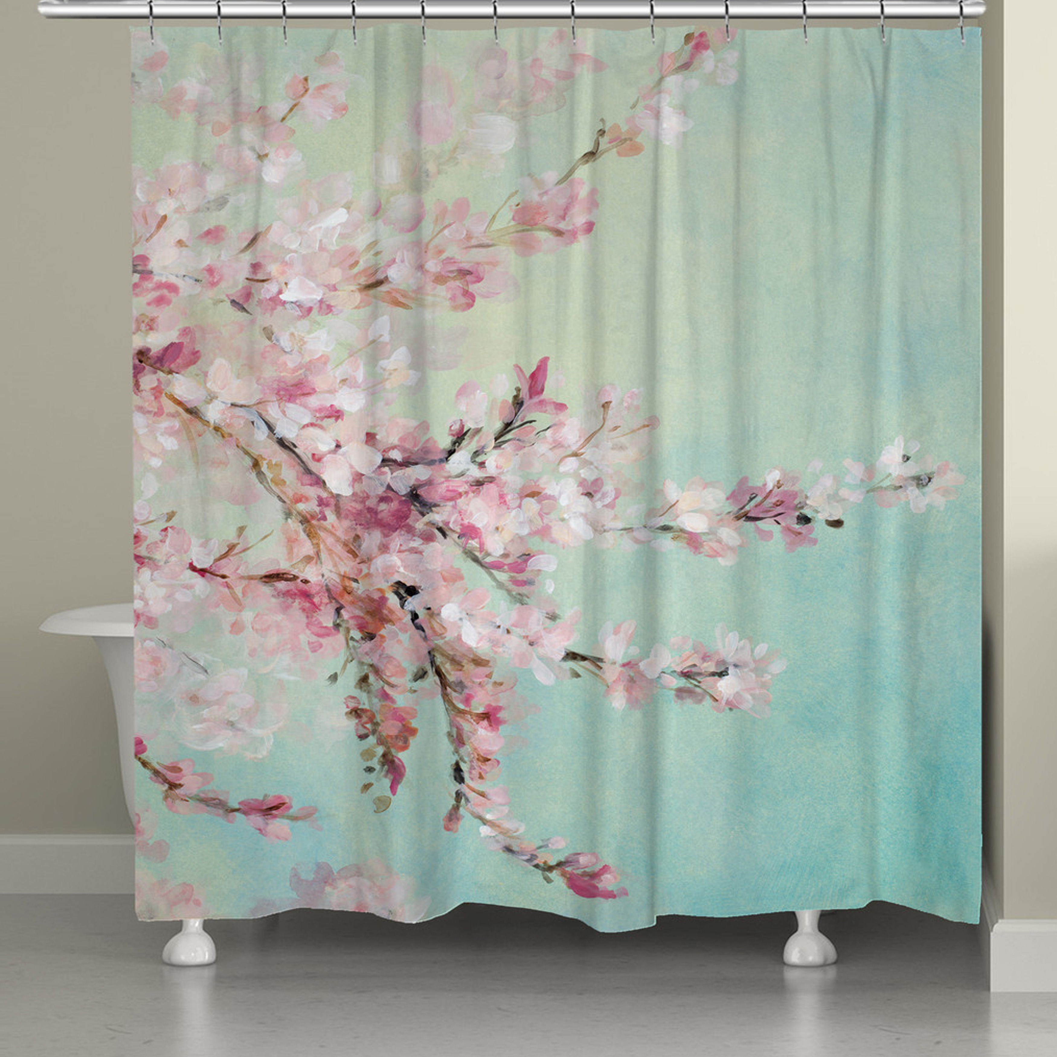 Laural Home Cherry Blossom Blooms Shower Curtain