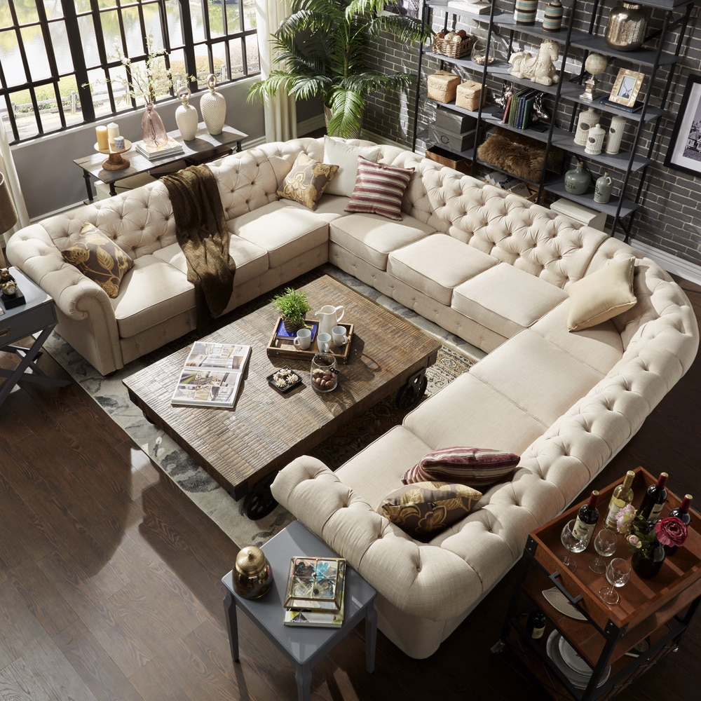 knightsbridge chesterfield 11 seat sectional by inspire q artisan