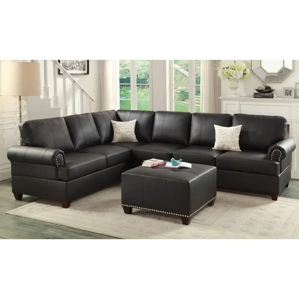 Barletta 2 Pieces Sectional Sofa With Ottoman Upholstered In