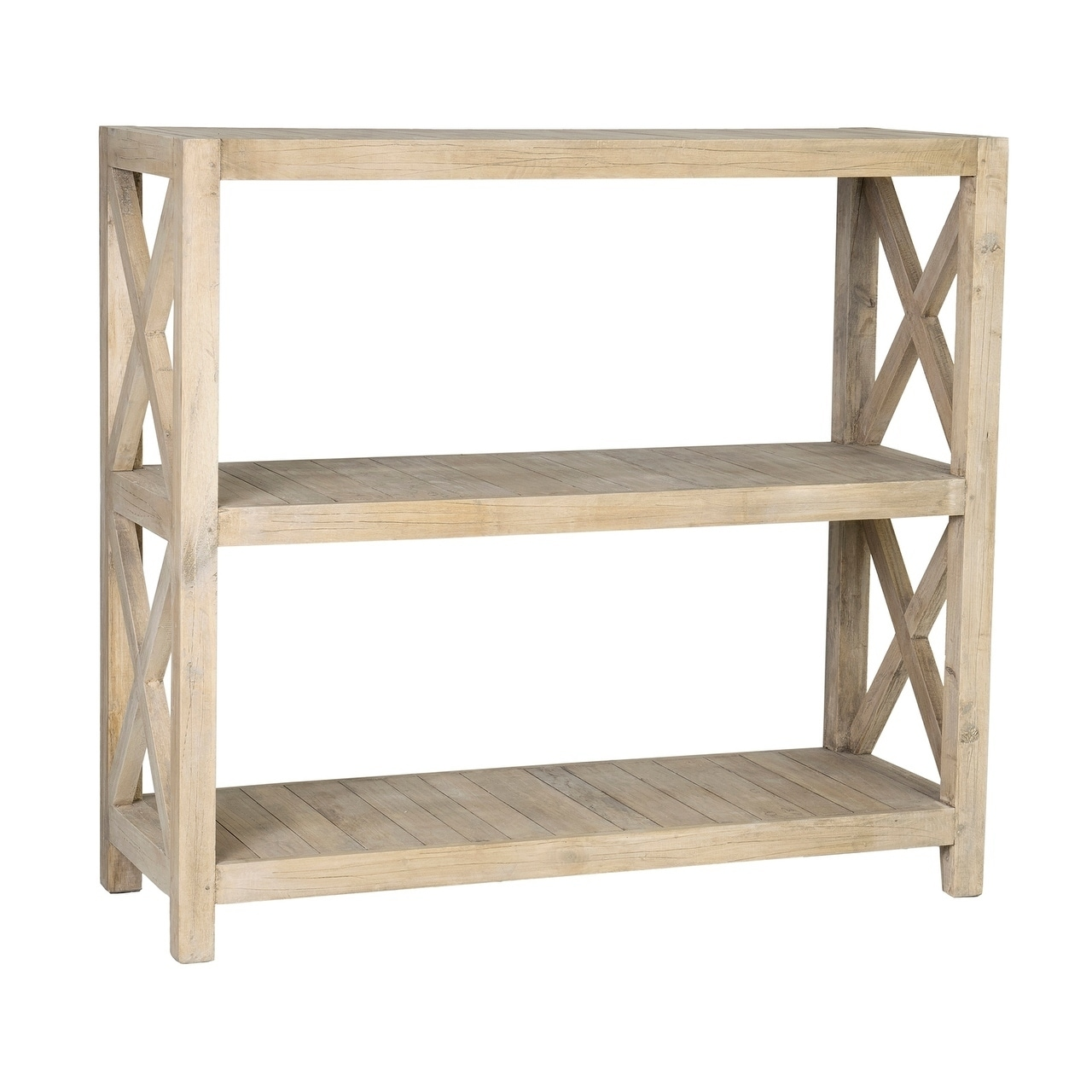 East At Main S Oakley Rubber Wood Open Horizontal Bookcase