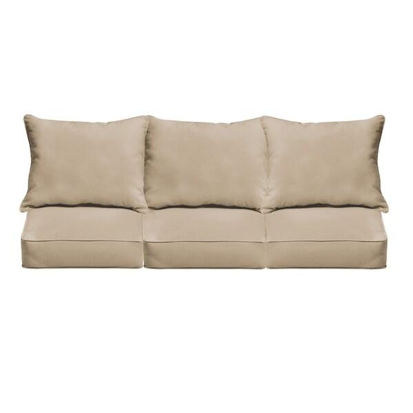 sloane beige indoor outdoor corded sofa cushion set