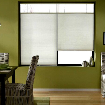 first rate blinds cool white 22 to 22 5 inch wide cordless top down bottom up cellular shades