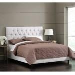 Skyline Furniture White Velvet Tufted Bed Overstock 11467591