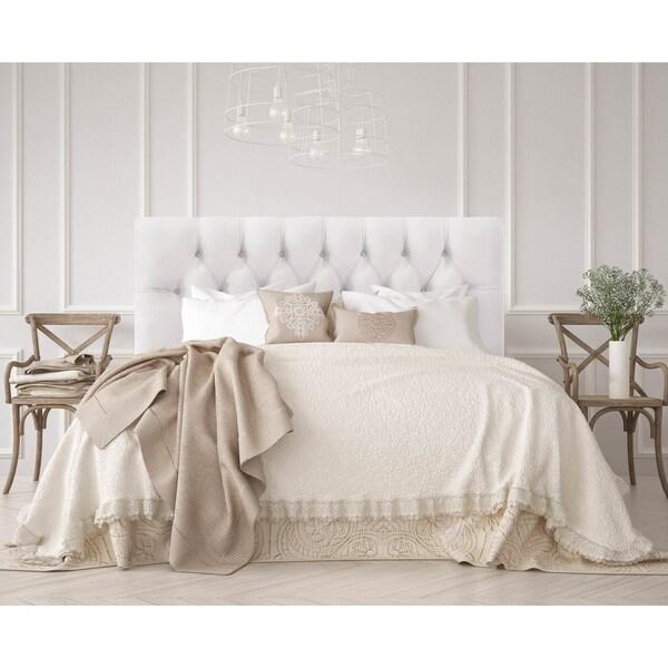 skyline furniture white velvet tufted