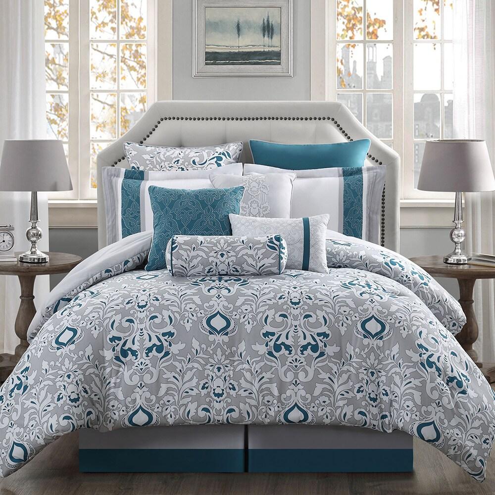 chloe 10 piece reversible comforter set