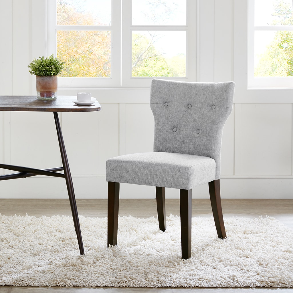 Madison Park Hayes Grey Tufted Back Dining Chair 2 Piece Set 19 W X 23 D X 34 25 H 2